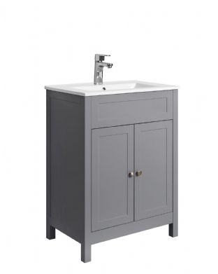 TB - Square Matt Grey Unit with Basin